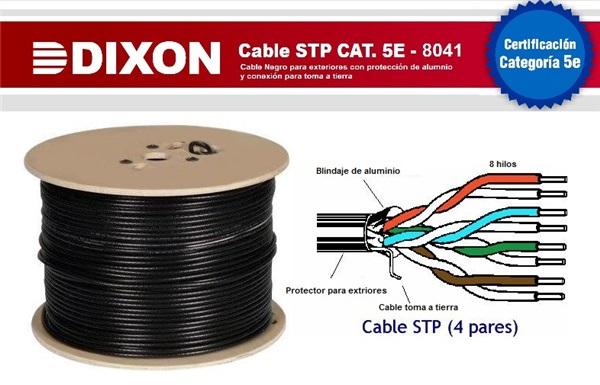 8041 cable stp para exteriores cat 5e 4p x 24awg rx305m - Cable para exterior ...