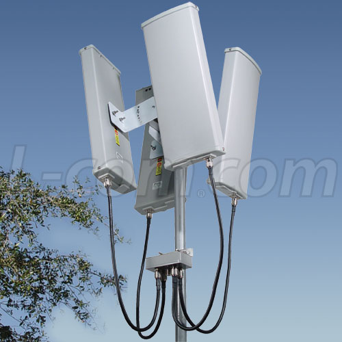 Array De 4 Antenas Sectoriales Con Splitter De 5 8 Ghz De