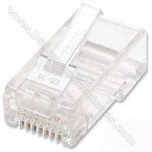 Conector Pulg Rj45 Cat 5e y Cat 6 SATRA